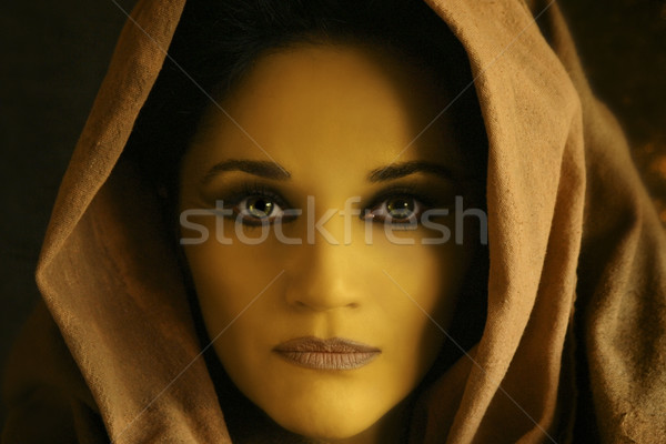 close up of yellow woman's face Stock photo © curaphotography