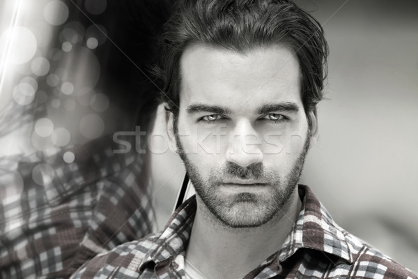 Masculine man face Stock photo © curaphotography