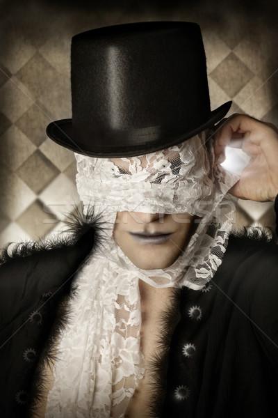 Stock fotó: Fantázia · portré · stilizált · férfi · felső · kalap