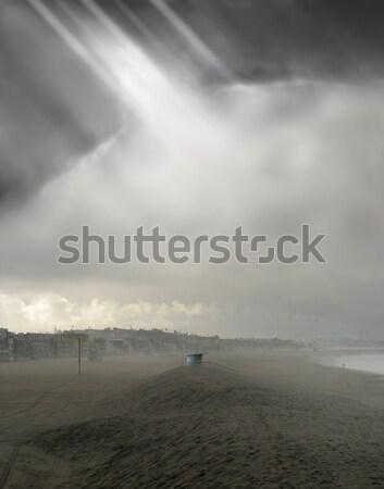 Humeurig strand mist landschap licht Stockfoto © curaphotography