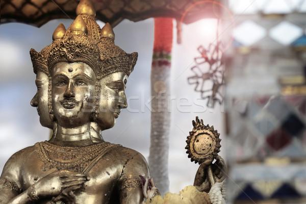 Shiva bronz heykel tanrıça el sanat Stok fotoğraf © curaphotography