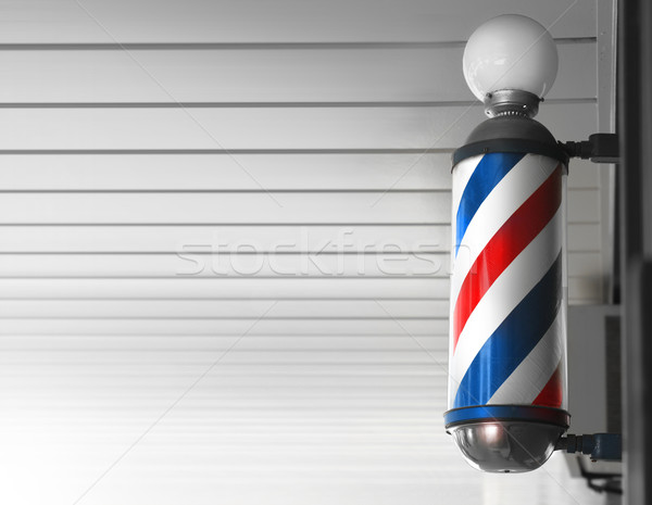 Barber shop pole Stock photo © curaphotography