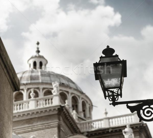 öreg lámpa kupola vasaló üveg előtér Stock fotó © curaphotography