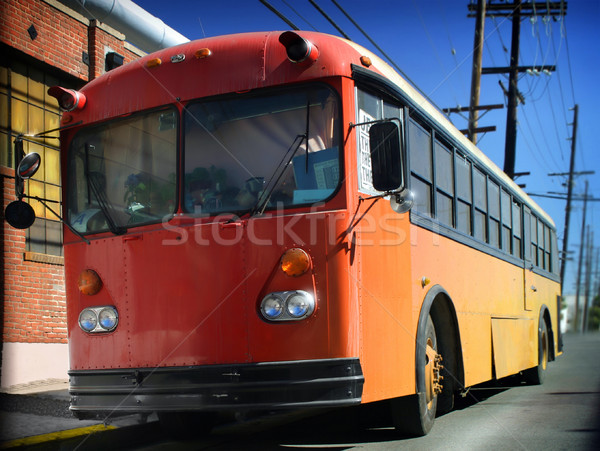 Big Red Bus Stock photo © curaphotography