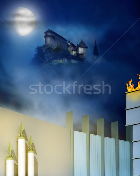 Castle on a hill Stock photo © curaphotography