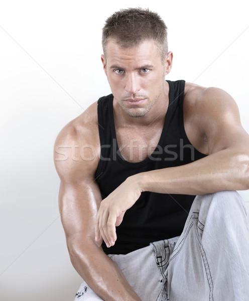 Muscolare ragazzo di bell'aspetto giovani muscolare maschile Foto d'archivio © curaphotography