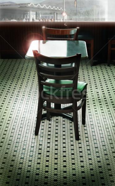 Retro lokanta stilize iç kiremitli zemin Stok fotoğraf © curaphotography