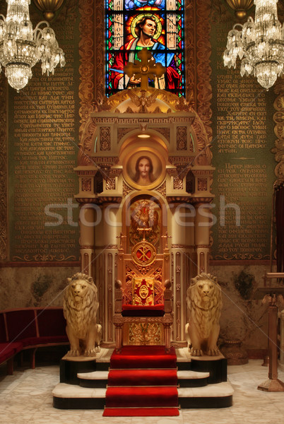 Throne in Cathedral Stock photo © curaphotography
