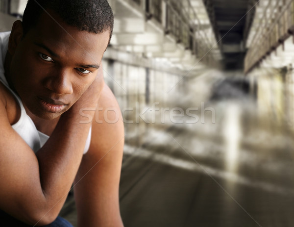 Portrait of a prisoner Stock photo © curaphotography