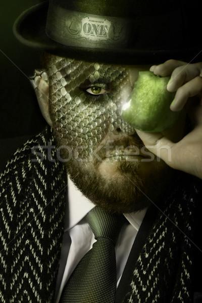 Verleiding geld portret man duur kleding Stockfoto © curaphotography