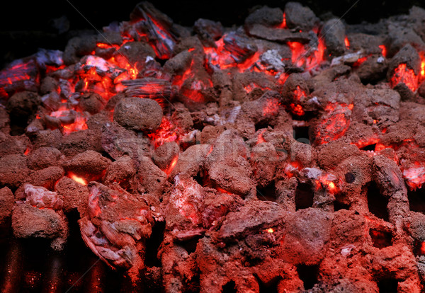 Burning coals on Grill Stock photo © curaphotography