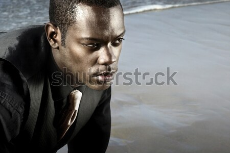 african american man in suit Stock photo © curaphotography