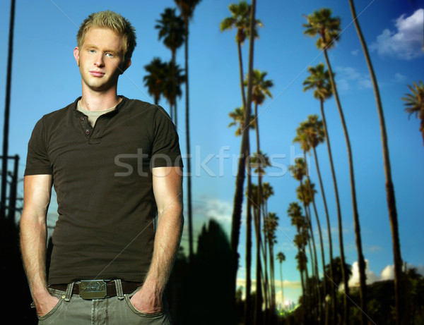 Young man outdoors Stock photo © curaphotography