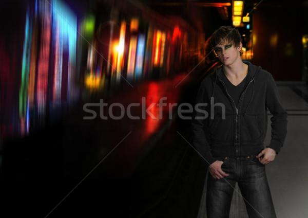 Nuit mode jeunes cool goth Photo stock © curaphotography