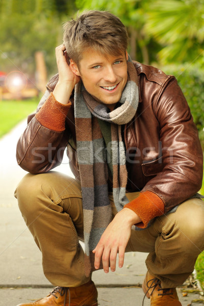 Male model outdoors Stock photo © curaphotography