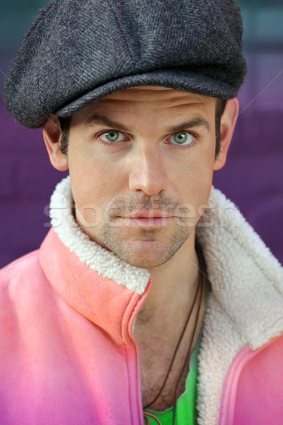Fun man in pink  Stock photo © curaphotography