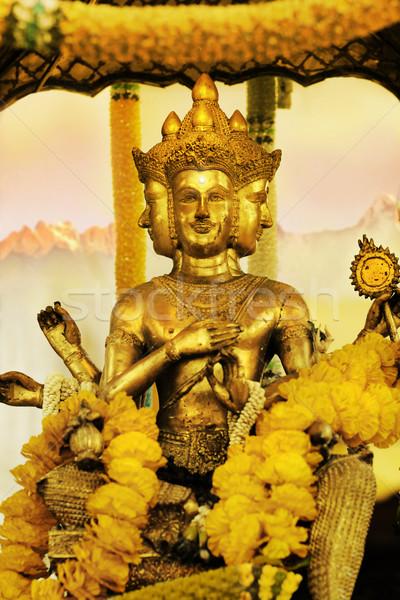Shiva altın eski heykel Tanrı yüz Stok fotoğraf © curaphotography