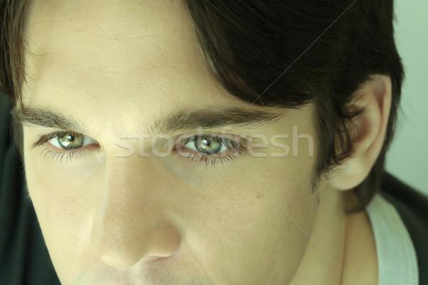 Szczegół młodych oczy portret Zdjęcia stock © curaphotography
