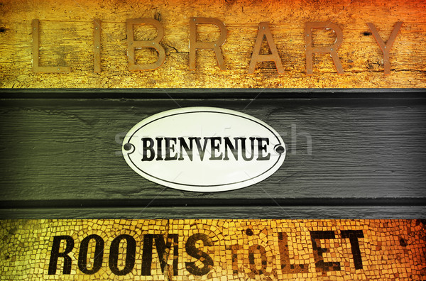 Antique signs Stock photo © curaphotography