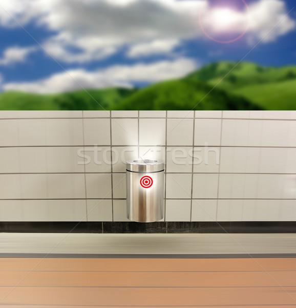 мусорное ведро современных чистой целевой символ Сток-фото © curaphotography