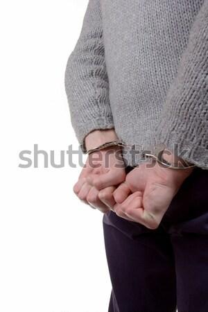 Tinédzser letartóztatás visel bilincs lány háttér Stock fotó © Cursedsenses