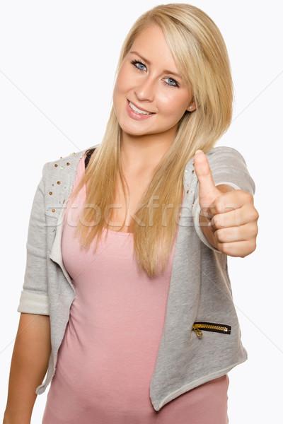 若い女性 手 小さな 女性 ストックフォト © Cursedsenses
