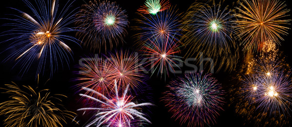 Fireworks Background Stock photo © Cursedsenses
