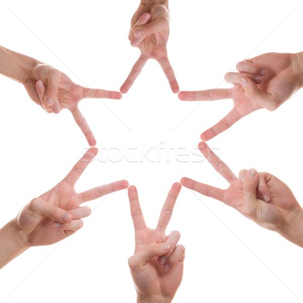 звездой небе из пальцы различный люди Сток-фото © Cursedsenses