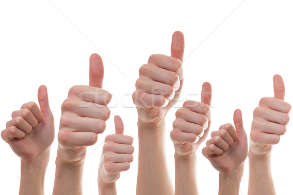 Collection of people showing thumbs of  Stock photo © Cursedsenses