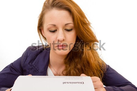 young woman is stressed due to computer failure Stock photo © Cursedsenses