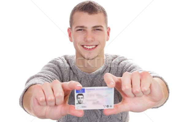 Joven conductor licencia 16 18 años Foto stock © Cursedsenses