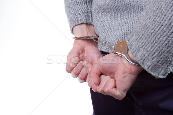 подростку арестовать наручники девушки фон Сток-фото © Cursedsenses
