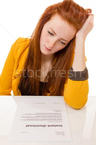 若い女性 見える 悲しい 仕事 100 パーセント ストックフォト © Cursedsenses
