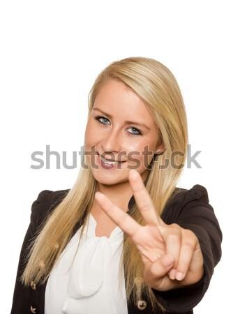 若い女性 平和 にログイン 手 小さな ストックフォト © Cursedsenses