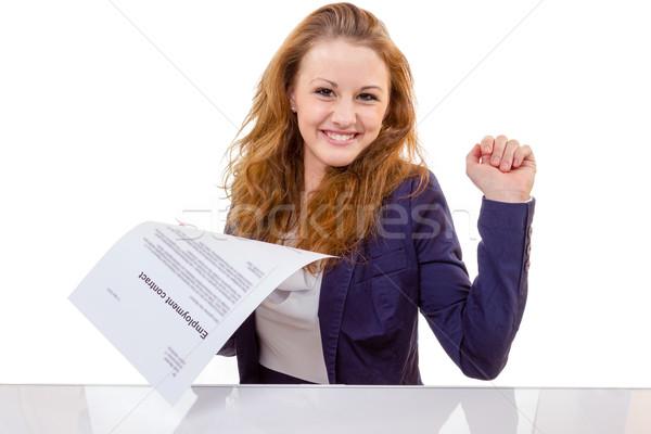 Felice occupazione contratto 100 cento Foto d'archivio © Cursedsenses