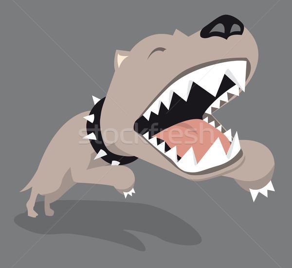 Grande cão saltando Foto stock © curvabezier