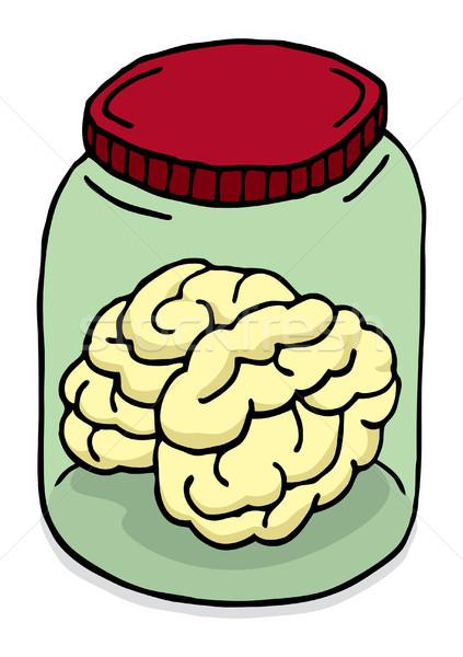 Brain in a jar Stock photo © curvabezier