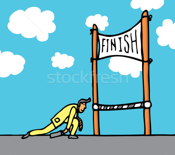 Huge effort getting to the finish line Stock photo © curvabezier