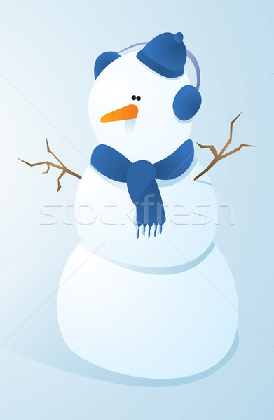 Cute Snowman Stock photo © curvabezier