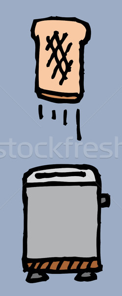 Toaster and toast / Breakfast is ready Stock photo © curvabezier