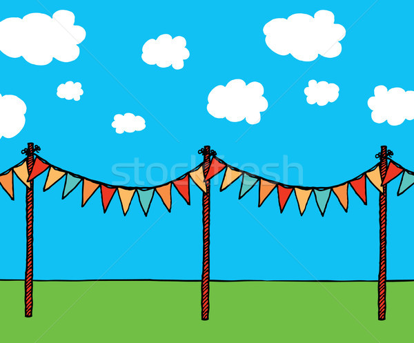Pennants background Stock photo © curvabezier