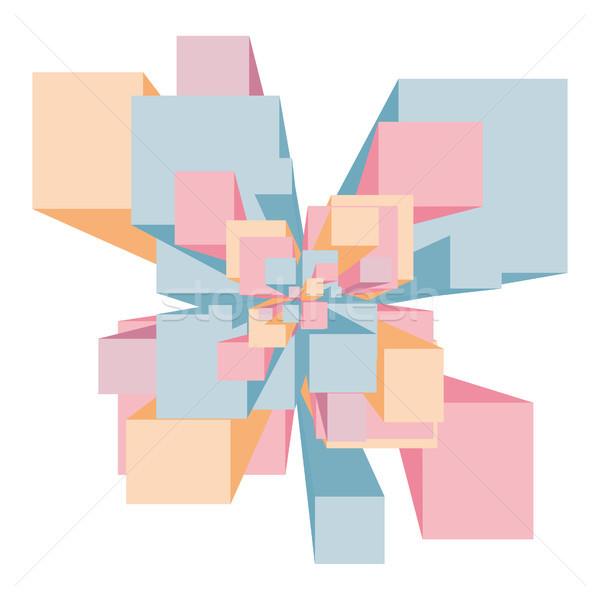 抽象的な 爆発 ストックフォト © curvabezier