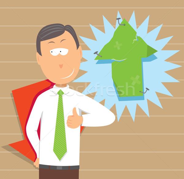 üzletember rejtőzködik üzlet tőzsde fogalmak válság Stock fotó © curvabezier