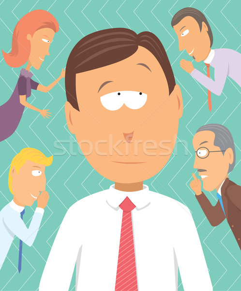 Business advisors or just gossip rumors Stock photo © curvabezier