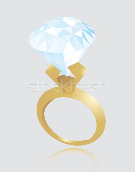 Valentin bague de fiançailles mariage cadeau diamant marié Photo stock © curvabezier