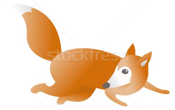 Running fox Stock photo © curvabezier