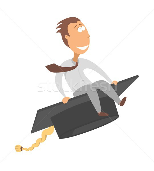 Flying graduate / Career takeoff or business degree Stock photo © curvabezier