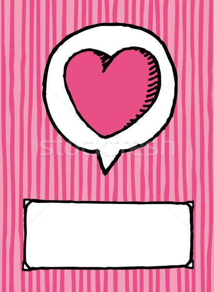 Amor cópia espaço valentine coração cartão Foto stock © curvabezier