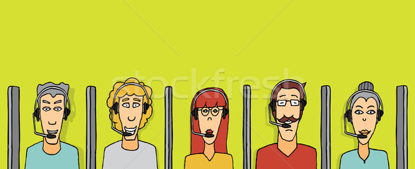 Call center / Help desk Stock photo © curvabezier