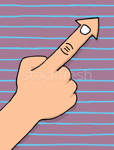 Finger cursor pointing arrow Stock photo © curvabezier